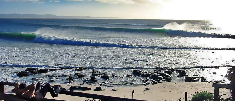Visual da praia de J-Bay