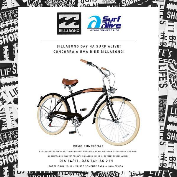 Promoção Bike Billabong Agita Surf Alive Perdizes