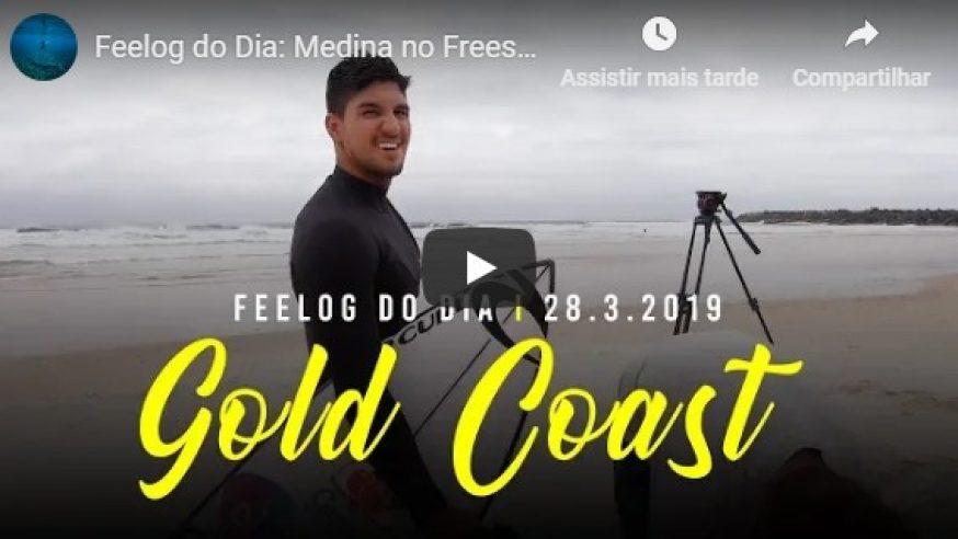 Gabriel Medina treinando na Gold Coast