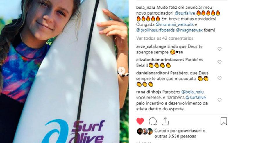 Bela Nalu entra para o time da Surf Alive